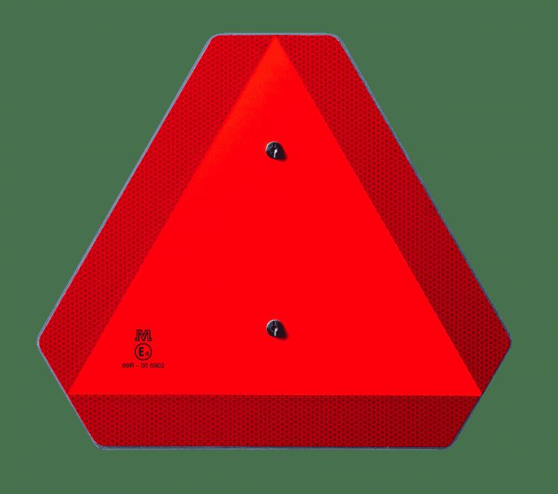 Lage snelheid voertuig driehoek